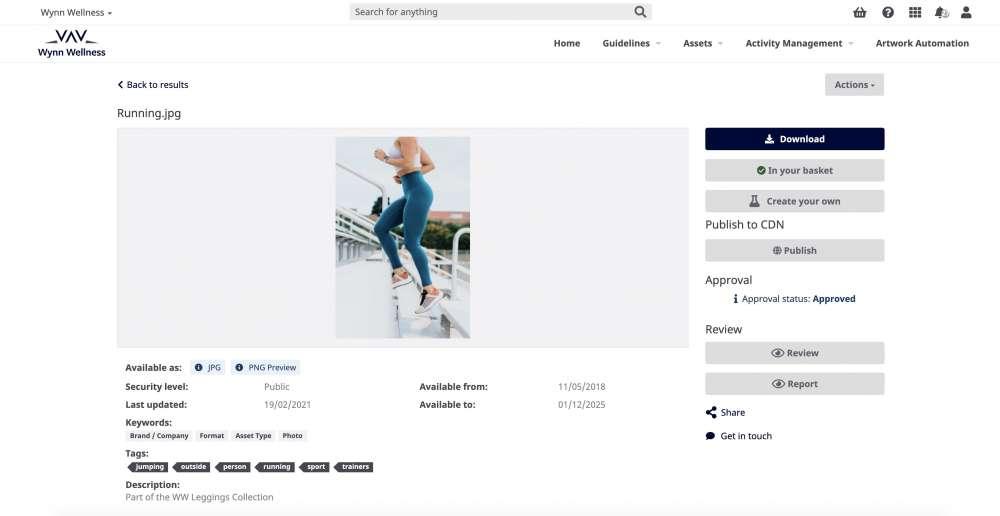 Adgistics DAM Brand Hub Asset Details 1